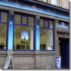 O2 Shop Front Window