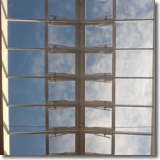 Skylight with openers